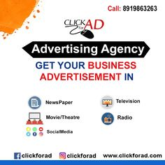 Full Service Advertising Agency for TV Ads, Paper Ads, Radio Ads, Cinema Ads, Ou. Radio Advertising, Advertising Industry, Advertising Services, New Television, Newspaper Advertisement, Social Media Ad, Display Ads, Tv Ads, Movie Theater
