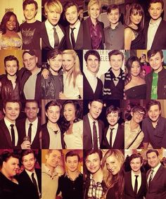 Chris Colfer (with Glee Cast)