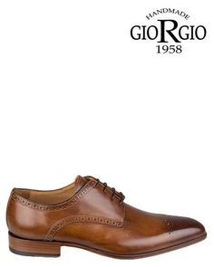 Giorgio | 12421 | Lace up shoes | Medium Brown | MONFRANCE Webshop