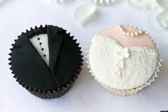 Wedding cupcakes by RuthBlack. Bride and groom cupcakes Wedding Cupcake Recipes, Homemade Wedding Favors, Wedding Cupcakes, Wedding Favours, Wedding Cake, Wedding Desserts, Wedding Invitation, Wedding Bouquets, Invitations