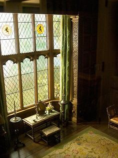 16 Intricate Miniature Rooms | Mental FlossCheck Check out the carved wood around this diamond-paned window.  Courtesy of https://www.flickr.com/photos/stewf/