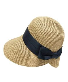 80933b6d462 Take a look at this Boardwalk Style Natural   Black Bow Straw Sun Hat today!