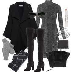 A fashion look from October 2015 featuring Whistles dresses, Roland Mouret coats and Stuart Weitzman boots. Browse and shop related looks.