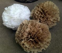 coffee filter fun ... Need something to do with all those extra filters since I switched to a keurig...