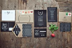 Classic Chalkboard Wedding invitation Suite DEPOSIT. $250.00, via Etsy. - TOTALLY ENAMOURED WITH THE CHALKBOARD THEME