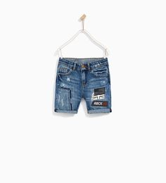 ZARA - KIDS - BERMUDA SHORTS WITH FRONT PATCHES