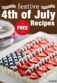 Flag Cake, Pulled Pork, Seven-Layer Salad, Bobby Flay's Honey-Rum Baked Beans and more!