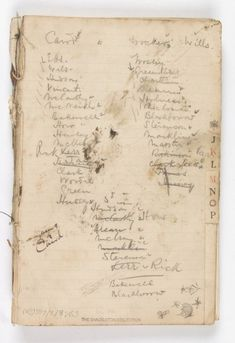 Shackleton's Endurance diary. 1915. Found on Scott Polar Research Institute
