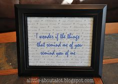 Framed Quote...great gift idea.
