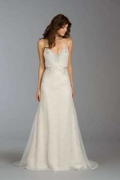200fc603bfd Simple and delicate Bone Color Wedding Dress Alvina Valenta Wedding  Dresses