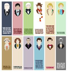 Doctor Who Profile Book Marks - Single