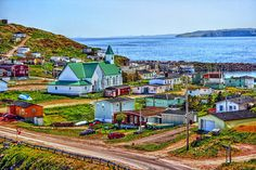 Photograph Bay de Verde by Robert Chenevert on 500px - I seem to recall seeing this place before (Greenland, I think) and I believe the houses really are those colors!