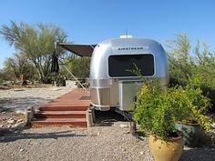 Clean and cozy. Queen size bed in separate bedroom. Pullout foam sofa for one in dining area. Full kitchen with stainless steel appliances, oven, microwave, range, refrigerator . Catalina Foothills, Airstream Trailers, Campervan, Location, Queen Size, Glamping, Recreational Vehicles, Air Stream, City