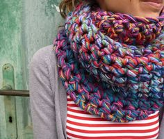 gabulin, chunki scarf, beauti scarv, crochet, knit, bufanda, cowls, ganxet, awesom scarf