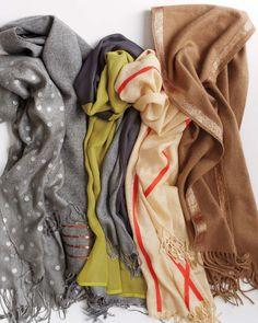 DIY Scarves - How to embellish scarves