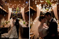Nature + Industrial Foundry Wedding #weddingreception #candlelight #inlove #brideandgroom