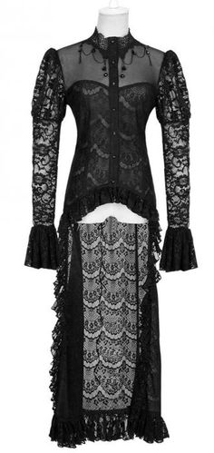 victorian inspired lace coat <3