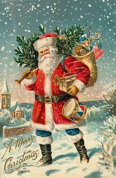 Santa Claus Vintage 379, Free Desktop Wallpapers, Cool Wallpapers