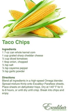 Yesterday, November 6, 2014 is National #Nachos Day - Enjoy Delicious & #Natural #Taco #Chips with Excalibur Dehydrators!