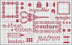 BRODERIE : Grilles gratuites broderie, couture - 1 2 3 Flo bricole : LES GOURMANDISES DE FLO