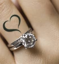 Heart Ring Finger Tattoo
