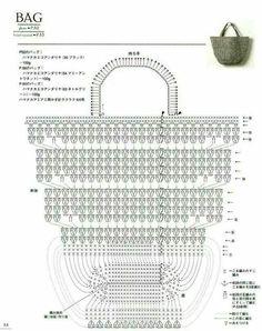 """L'album """"Asahi Original - Bag Arrange and Motif Pattern"""" / motivi del modello . - везание - L'album """"Asahi Original - Bag Arrange and Motif Pattern"""" / motivi del modello . Crochet Diy, Bag Crochet, Crochet Handbags, Crochet Purses, Crochet Baskets, Crochet Diagram, Crochet Chart, Crochet Stitches, Crochet Patterns"""