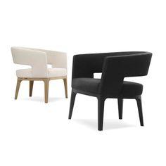 Turner Lounge Chair – Wood Chic.  Idée : ossature virage bois. + rembourage coté intérieur