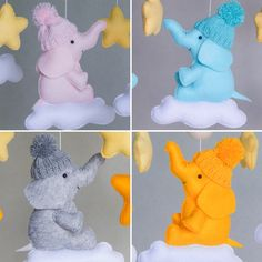These little friends are waiting for you in my store! Elephant baby mobile Shop Baby and Dachshund 🐾 Star Mobile, Cot Mobile, Mobile Shop, Elephant Mobile, Elephant Baby, Mima, Crib Toys, Plastic Hangers, Paper Straws