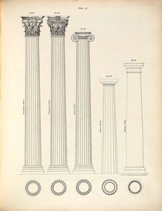 Cast iron column renderings