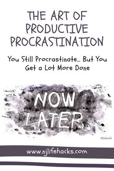 It's not that I don't procrastinate anymore. Positive procrastination is a great little trick to get things done in spite of struggling with procrastination. It's a good skill to add to your anti-procrastination arsenal. Writing Resources, Blog Writing, Writing Tips, Game Day Quotes, Self Development, Personal Development, What Book, Motivation, Hacks