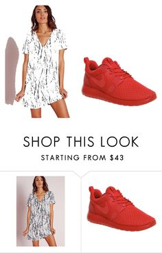 """""""Untitled #1388"""" by clarry-sinclair ❤ liked on Polyvore featuring Missguided and NIKE"""