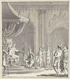 Anonymous | In 't Jaar 1555, Anonymous, 1789 - 1810 | Troonsafstand van keizer Karel V op 25 oktober 1555, waarin hij de regering van de Nederlanden overdraagt aan zijn zoon Filips.