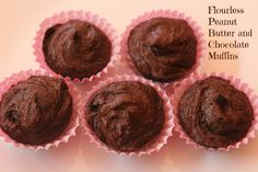 Flourless Peanut Butter and Chocolate Muffins http://marlasmuffins.com/flourless-peanut-butter-chocolate-muffins/