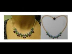 ▶ How to make beautiful necklace with just beads and thread - YouTube