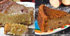 Popular Jamaican puddings - Sweet Potato and Cornmeal Puddings Jamaican Banana Cake Recipe, Cornmeal Pudding Recipe Jamaican, Jamaican Sweet Potato Pudding, Jamaican Desserts, Cornmeal Recipes, Jamaican Dishes, Jamaican Recipes, Jamaican Rice, Pumpkin Cake Recipes
