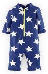 Mini Boden Star Print Surf Suit (Baby Boys)