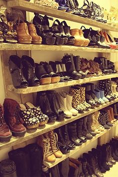 This home made shoe rack would make a perfect addition to my home!