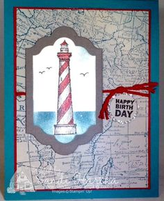 From Land to Sea, Stampin'Up!, birthday card, thinking of you card, thank you card
