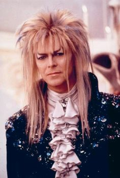 Photo of David Bowie as Jareth from Labyrinth! for fans of David Bowie. I decided to include this because technically Jareth was played by David Bowie in Labyrinth. This is where Bowie looks hottest in my opinion! David Bowie Labyrinth, Labyrinth 1986, Labyrinth Movie, Jareth Labyrinth, Goblin King Labyrinth, The Thin White Duke, Jennifer Connelly, Jennifer Garner, Star Wars
