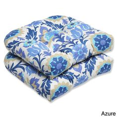Pillow Perfect 'Santa Maria' Outdoor Wicker Seat Cushions (Set of 2) | Overstock.com Shopping - Big Discounts on Pillow Perfect Outdoor Cushions & Pillows