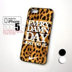 Every Damn Day Leopard, Nike Pattern design for iPhone 5 Case