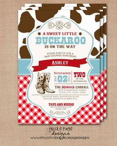 little cowboy or buckaroo baby shower by on etsy