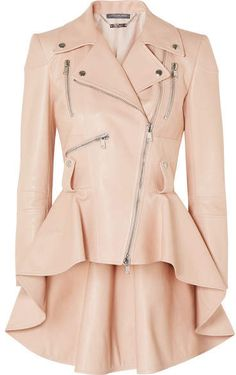 Alexander McQueen – Leather peplum biker jacket - All About Peplum Leather Jacket, Leather Jackets, Leather Skirts, Cool Outfits, Fashion Outfits, Womens Fashion, Alexander Mcqueen, Mode Kawaii, Leather Fashion