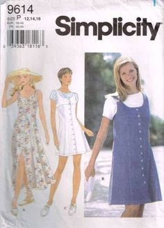9614 Sewing Pattern Ladies Dress or Jumper and Top 12 14 16 click picture to enlarge click picture to enlarge Thank you for coming in! Please look around my store while you are here as I have many mor