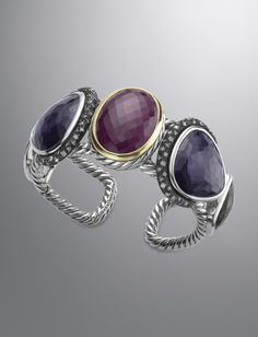 David Yurman Ruby Moonlight Cuff @Reis-Nichols Jewelers