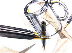 #기초디자인#재질표현#개체표현#질감#시범작#유리컵#만년필#리온 by llion Can Opener, Industrial Design, Markers, Objects, Drawings, Glass, Painting, Sharpies, Industrial By Design