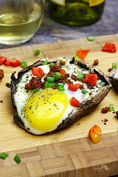 Paleo Stuffed Baked Eggs Portobello Mushrooms hearty & simple 30 minute recipe