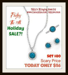 Friday 13th Deal Nikki's Blinging Jewelry (FB) www.liasophia.com/nikkiworam **All purchases today get entered into a FREE piece of BLING!**