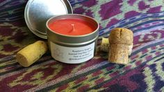 Raspberry Sangria Scented Soy Candle by WillowGroveCandles on Etsy