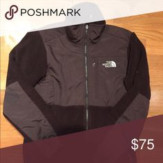 Brown North Face Denali fleece Has some very minor pilling. No holes rips or stains. Smoke free home. Has the ability to be zipped into your winter jacket! North Face Jackets & Coats